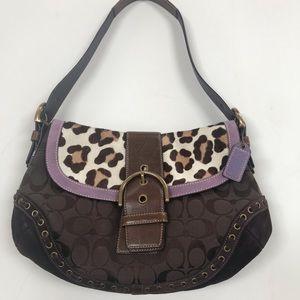 Coach Ocelot Suede Calf Hair Leopard Jacquard Bag